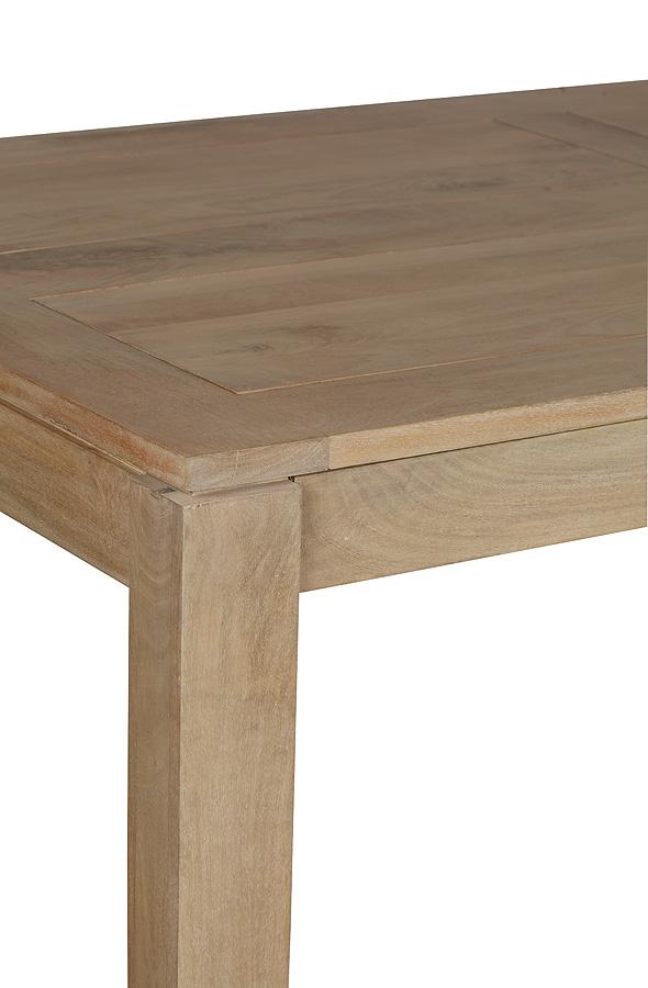 table de repas extensible manguier massif 160 250x100x78cm boreal clair