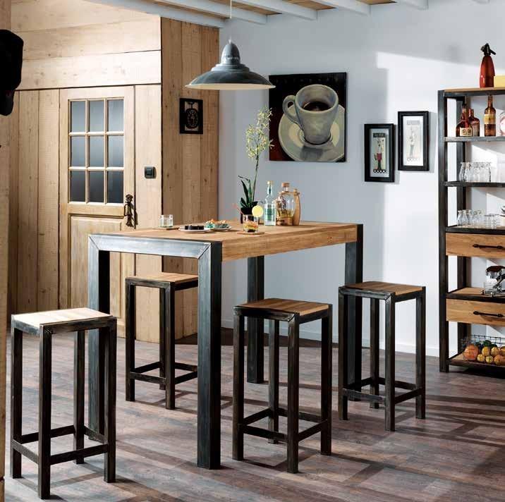 table mange debout chene et metal 150cm ferscott