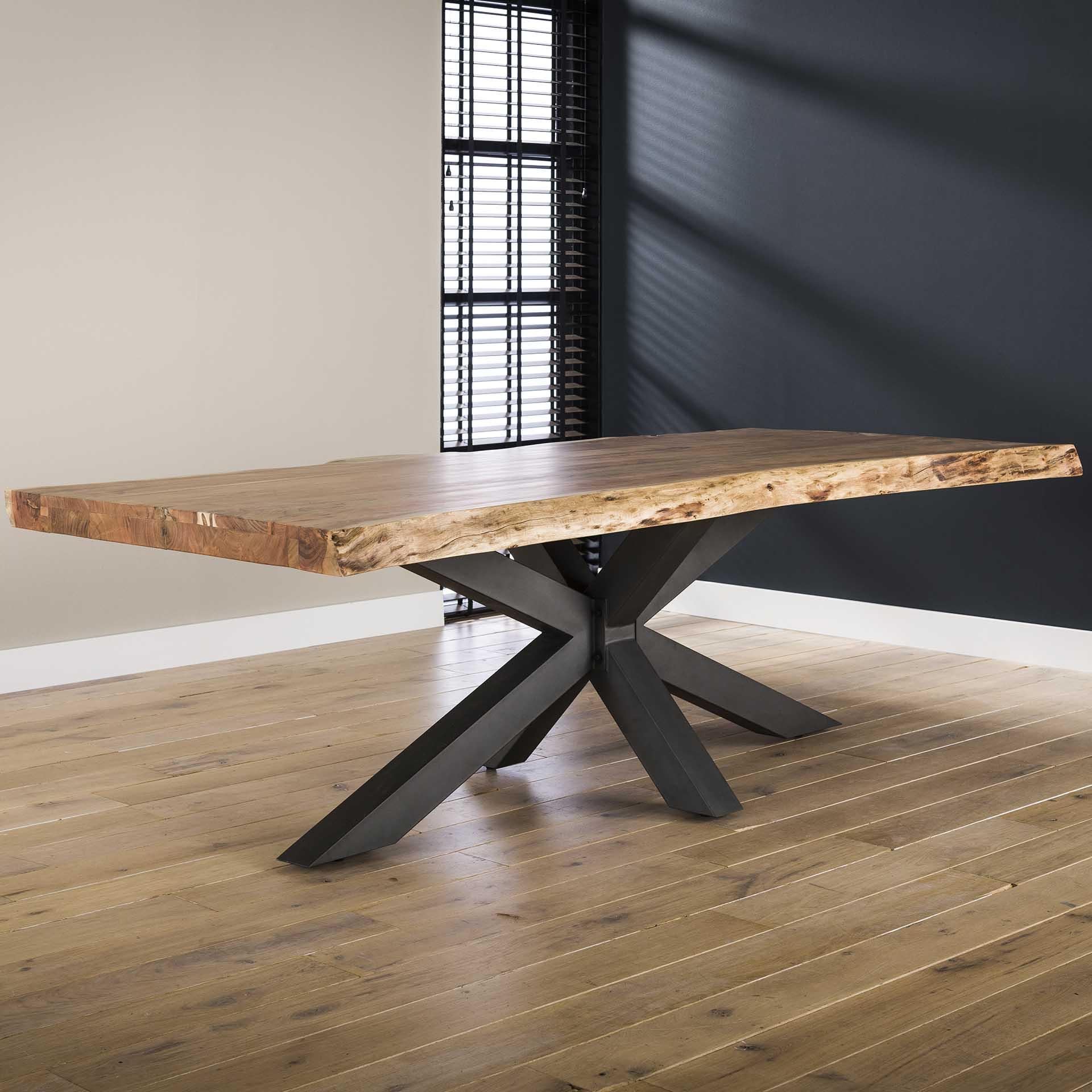 table salle a manger bois massif pied mikado 240 cm melbourne tables a manger pier import