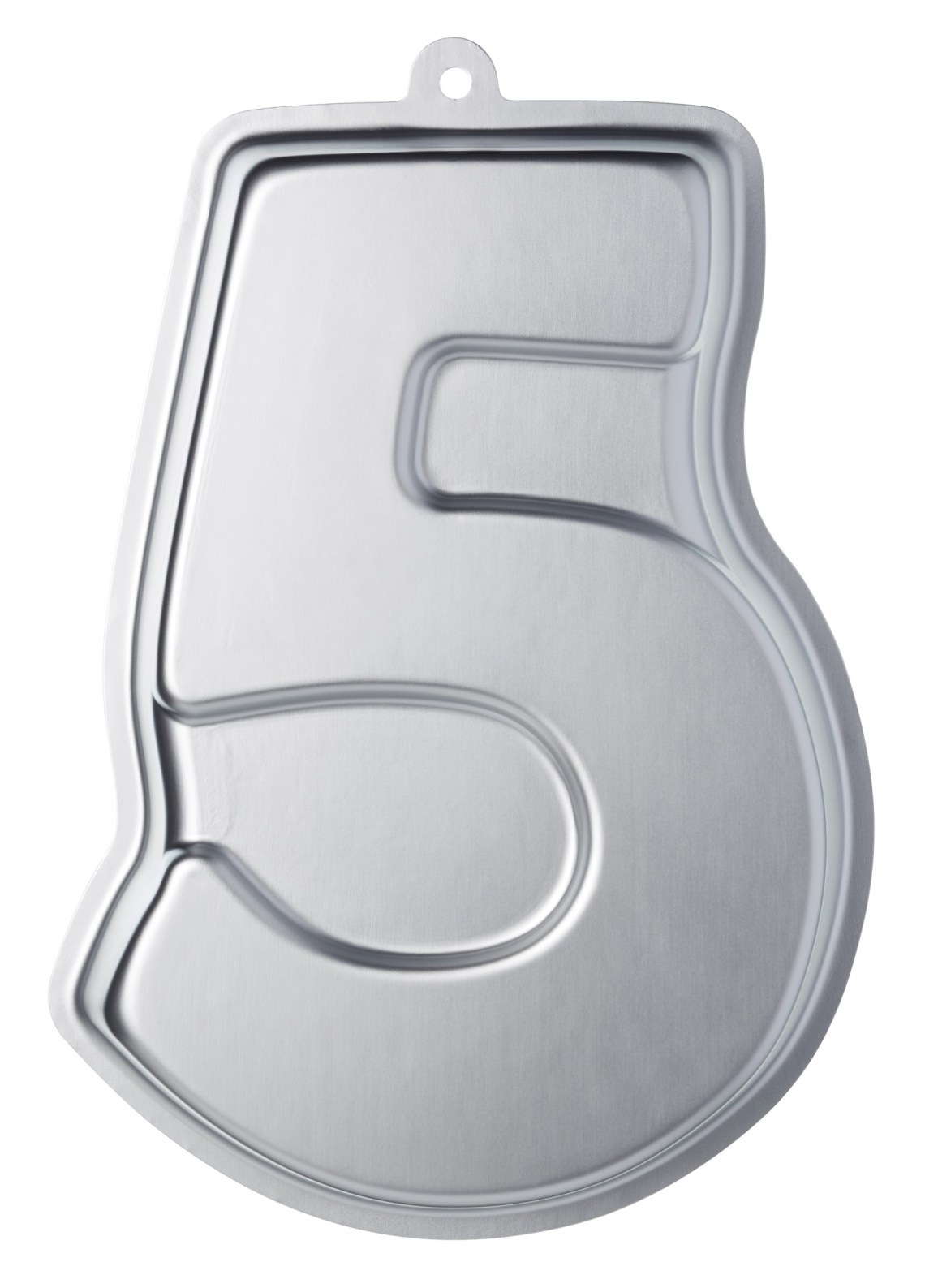 Sweetly Does It Silver Anodised Number Five Shaped Cake ...