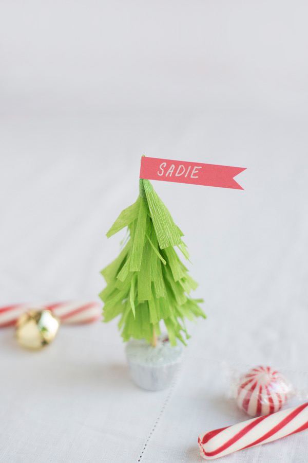 Christmas Tree Name Cards DIY