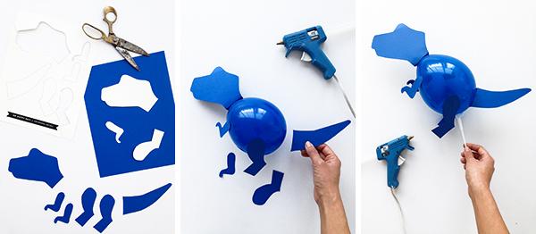 Mini palos de globo de dinosaurio | ¡Oh dia feliz!