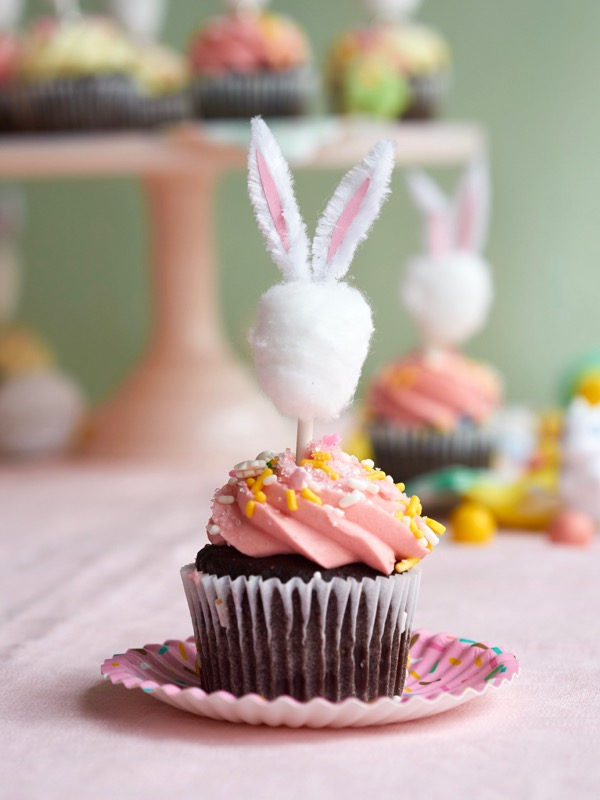 Minimalist Bunny Cupcake Toppers DIY | Oh Happy Day