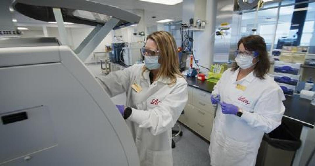 An image showing the Lilly antibody quality testing process