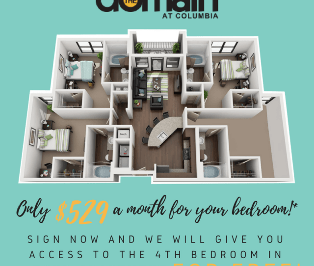 Bathrooms Apartment For Rent At Domain At Columbia In Columbia Mo