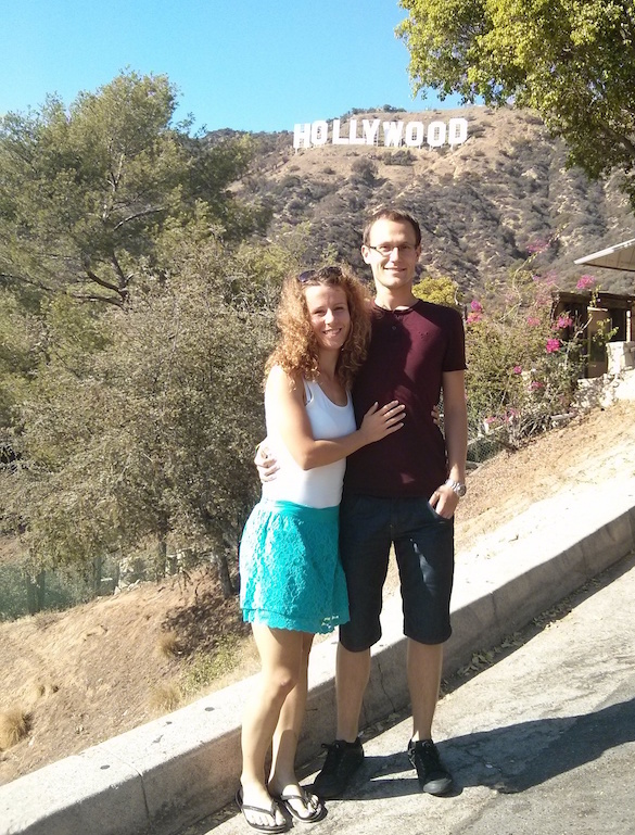 Hollywood Sign as one of the stops on our USA road trip