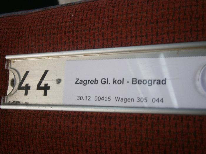 Zagreb - Belgrade train