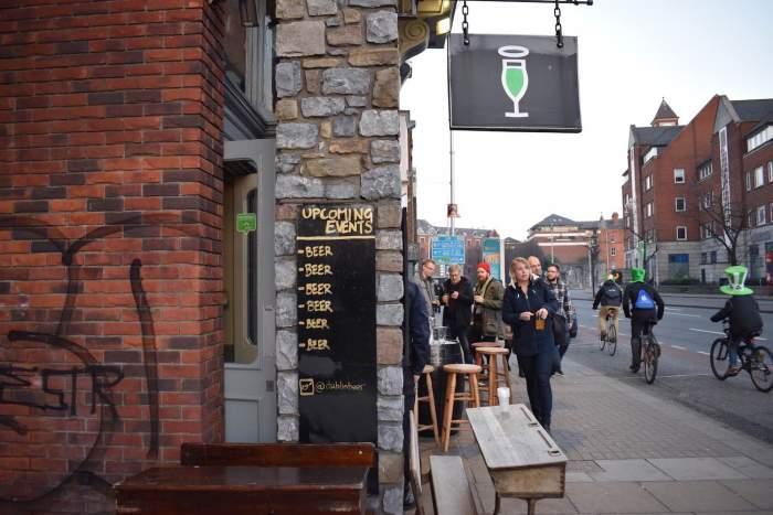 Saint Patricks Day Festival in The Beer Market in Dublin