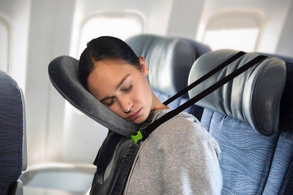 unusual travel pillow lets you sleep