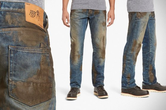 Barracuda Straight Leg Fake Mud-coated Jeans