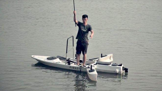MFK003 Modular Standing Fishing Kayak by Fissot
