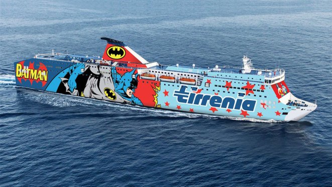 Tirrenia Ferry Launches DC Superheroes-themed Ships