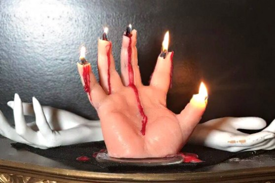 Bleeding Hand Candle by Creepy Candles