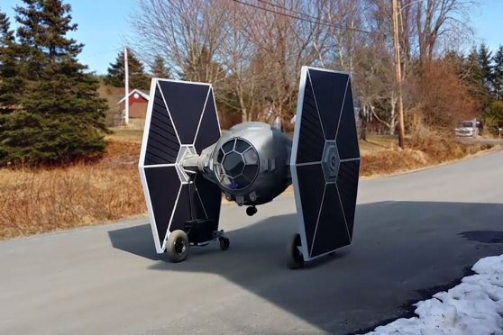 Homemade Rideable Electric TIE Fighter