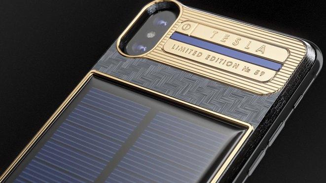 Caviar Solar-charging iPhone X Tesla For Elon Musk