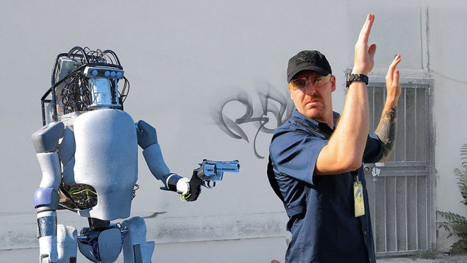 Boston Dynamics Robot Fight Backs Video