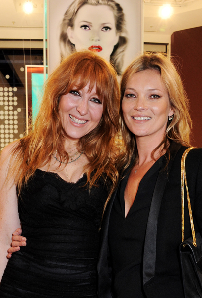 Kate Moss Unveils Portrait at 'Charlotte Tilbury's Make-Up House Of Rock n'Kohl' At Selfridges - Photocall