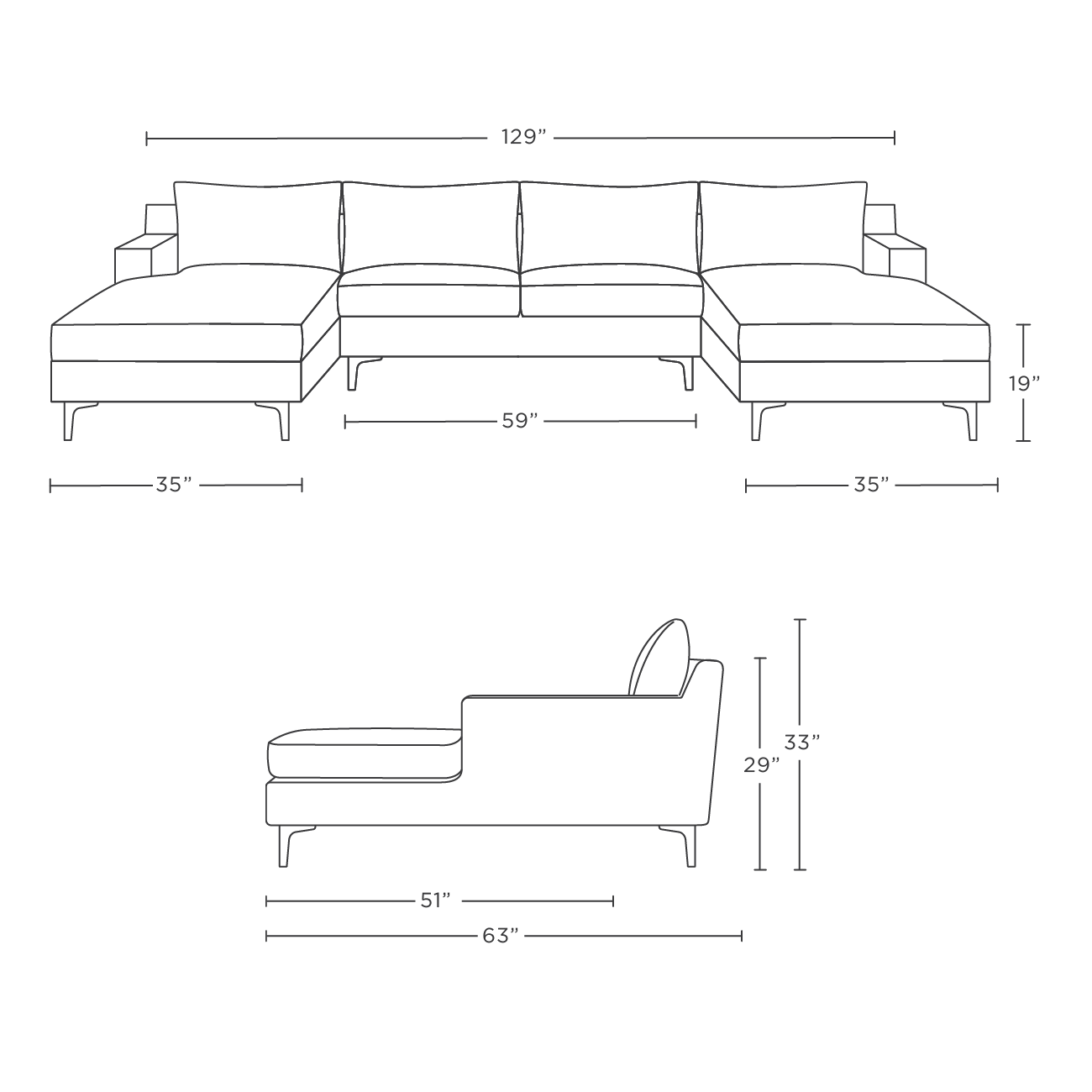 Sloan Custom U Sectional Sofa