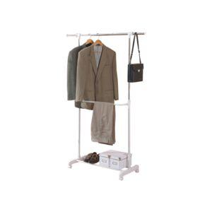 garment rack single bar w bottom shelf