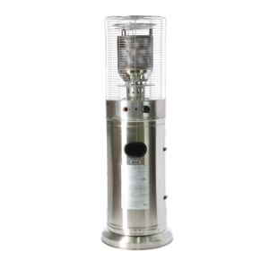 patio heater gas 137cm ss w cover
