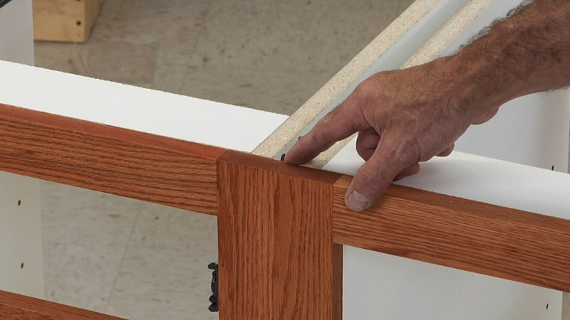 How to build cabinet face frames for Building face frame kitchen cabinets