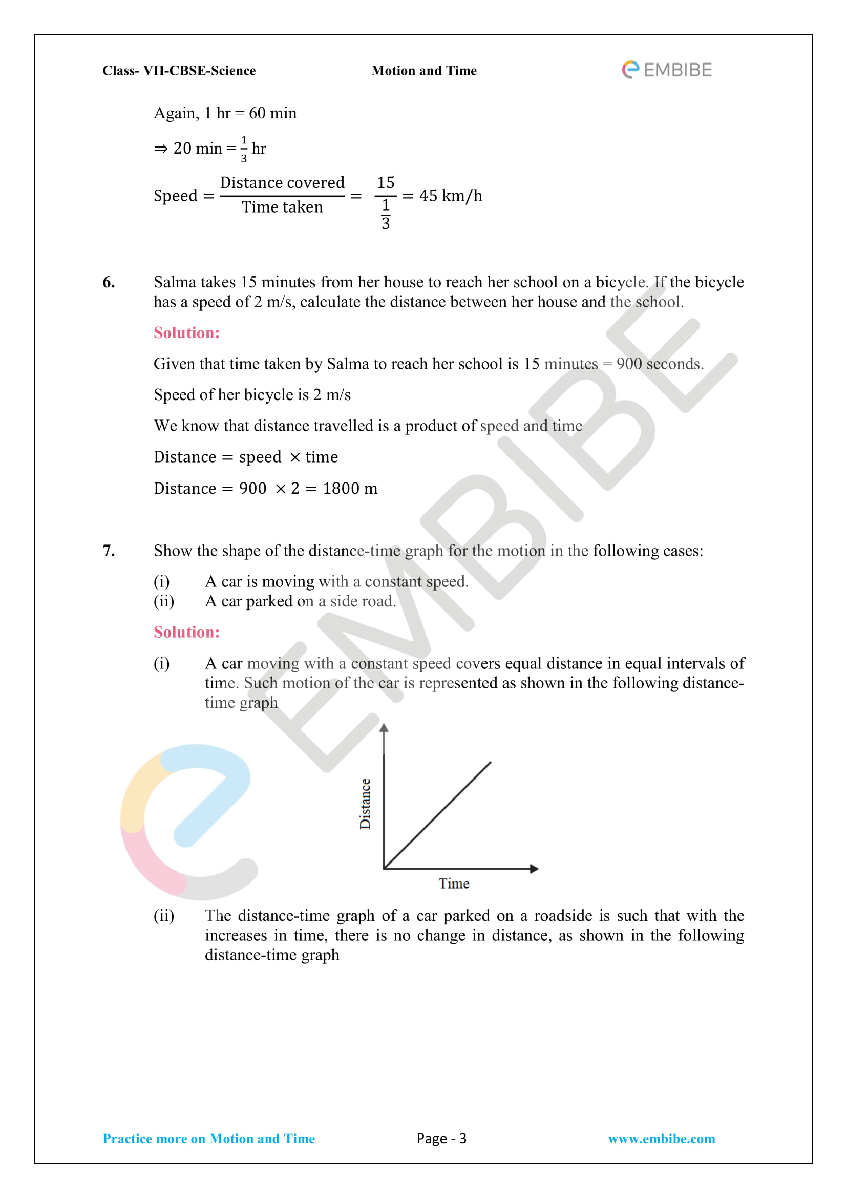 Ncert Solutions For Class 7 Science Chapter 13 Motion And