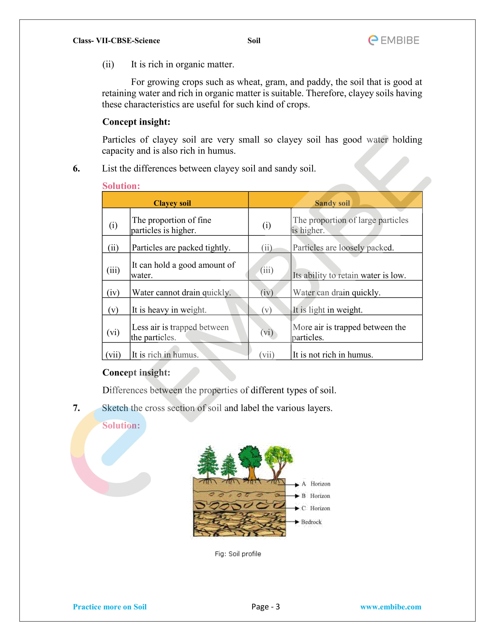 Ncert Solutions For Class 7 Science Chapter 9 Soil