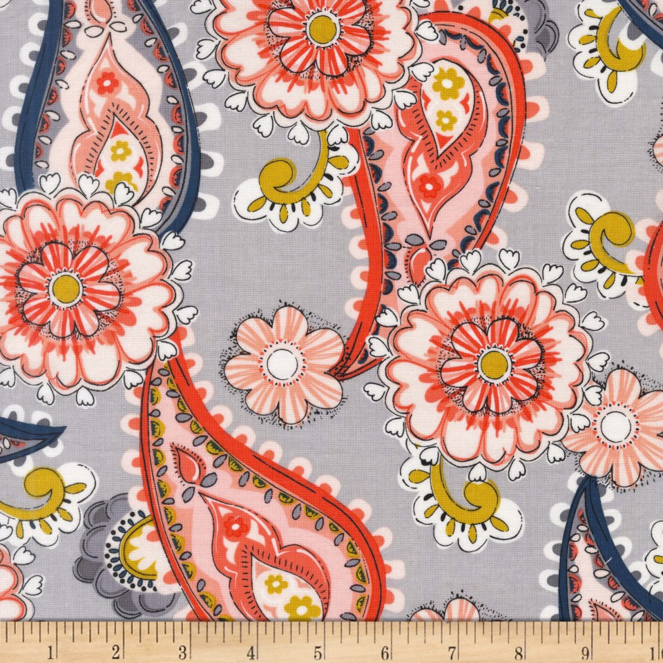 Michael Miller Daisy Paisley Cloud Fabric