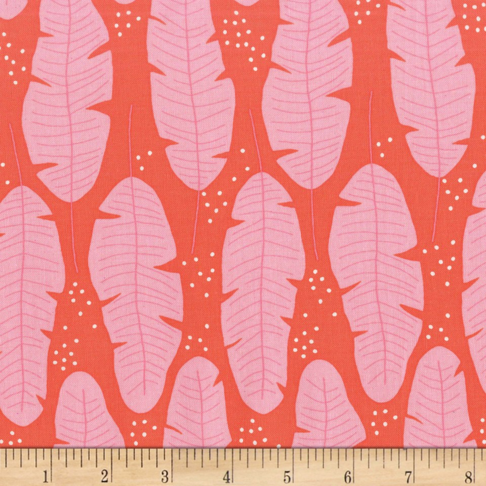 Michael Miller Everglades Float Coral Fabric