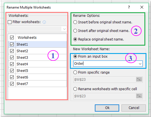 How To Rename Multiple Worksheets In Excel