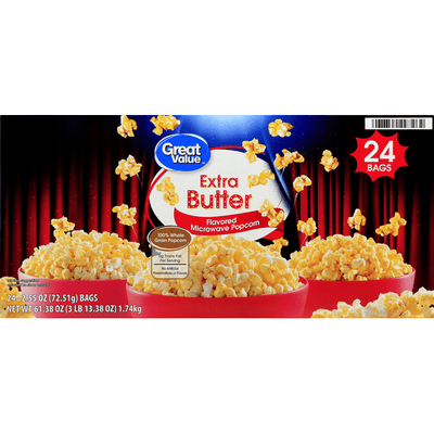 great value microwave popcorn extra