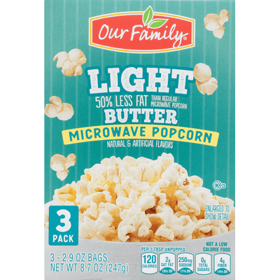 our family microwave popcorn butter