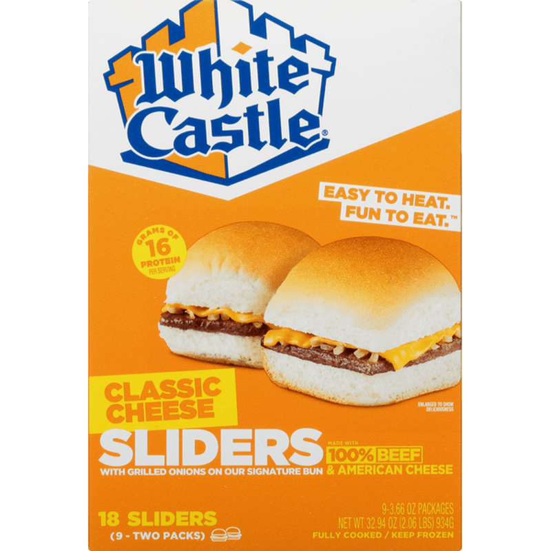 white castle sliders classic cheese 9