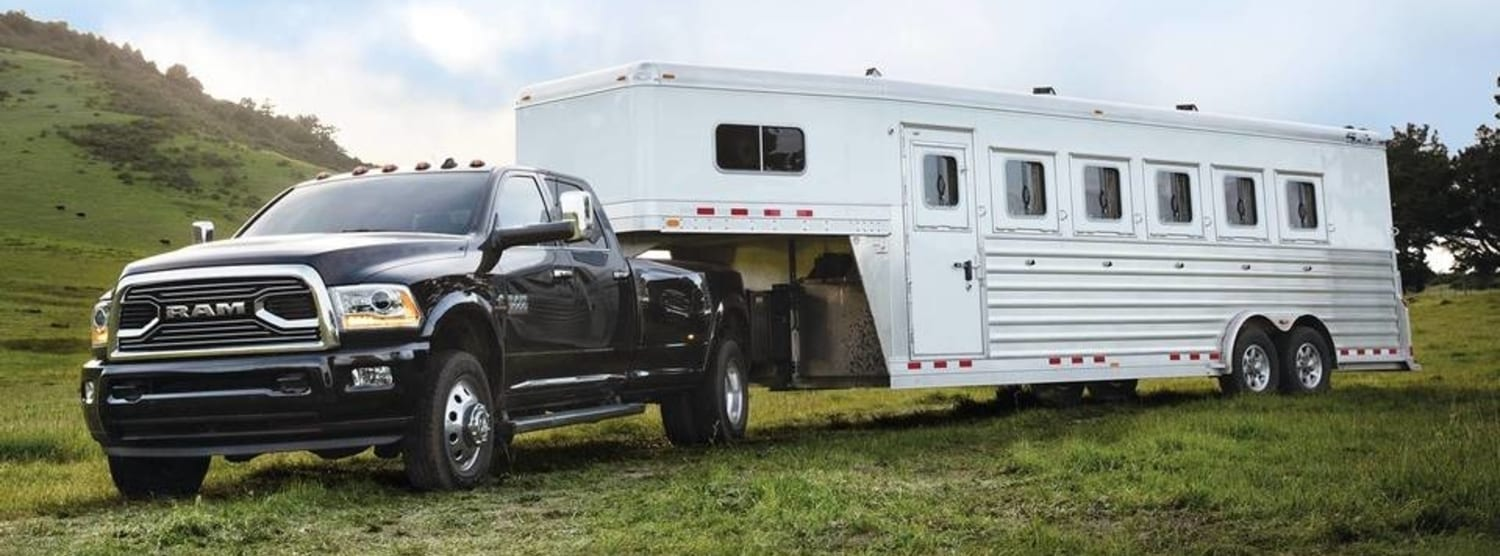 A 2018 RAM 3500, hauling a trailer like a boss