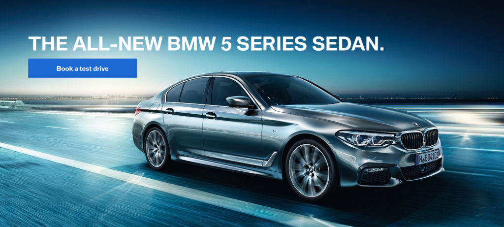 Test Drive the All-New 2017 BMW 5 Series