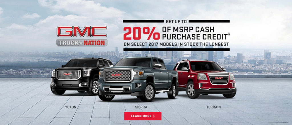 July GMC Incentive