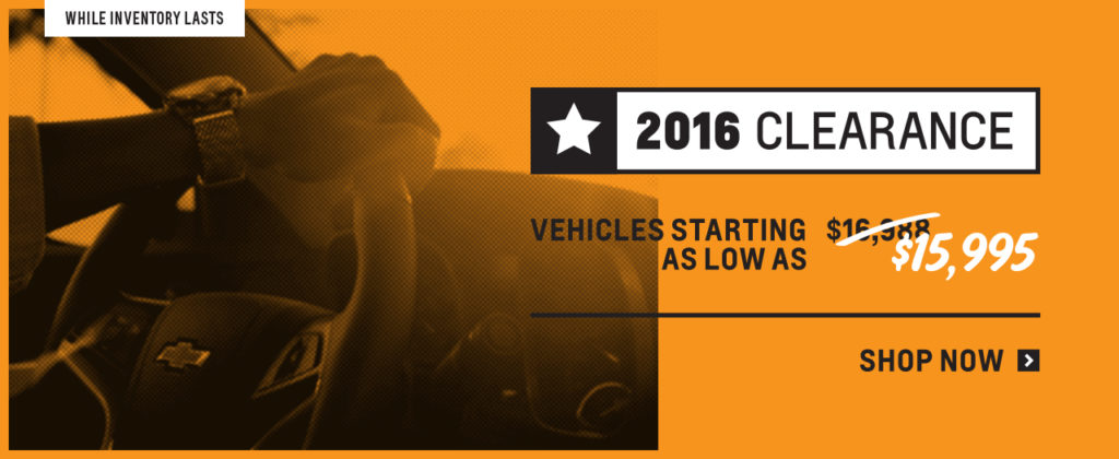 New Vehicle Clearance - 2016 Models