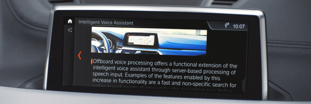 Intelligent voice assistant screen