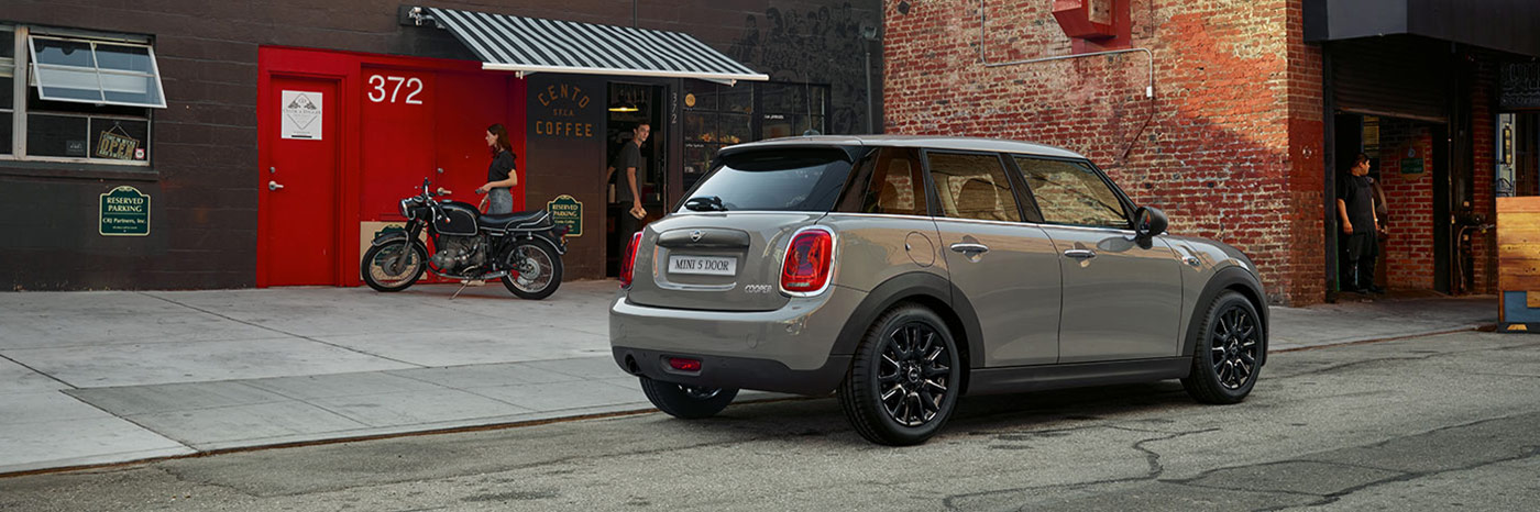 2019 Mini Cooper 5 Door Parked by sidewalk by