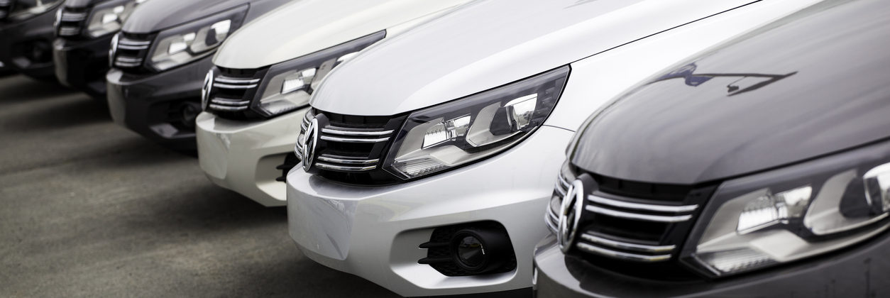New Volkswagen Tiguan Vehicles in a Row