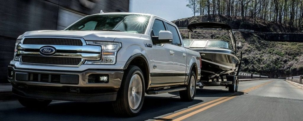 Ford F-150 Diesel Towing Trailer