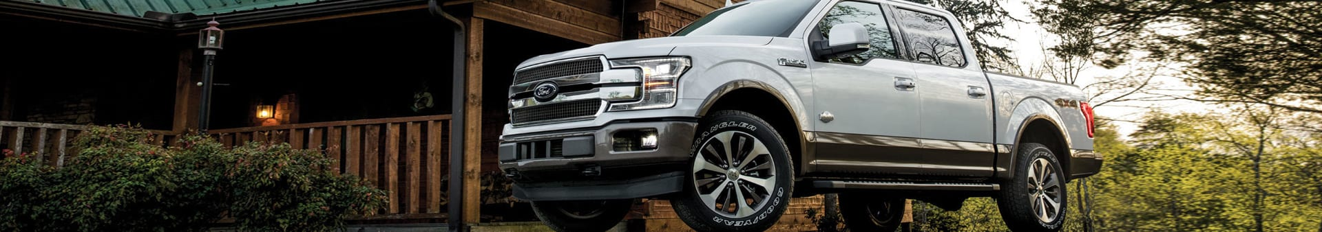 White Ford F150 Exterior outside of house