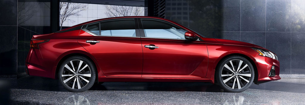 2019 Nissan Altima AWD sedan in Scarlet Red