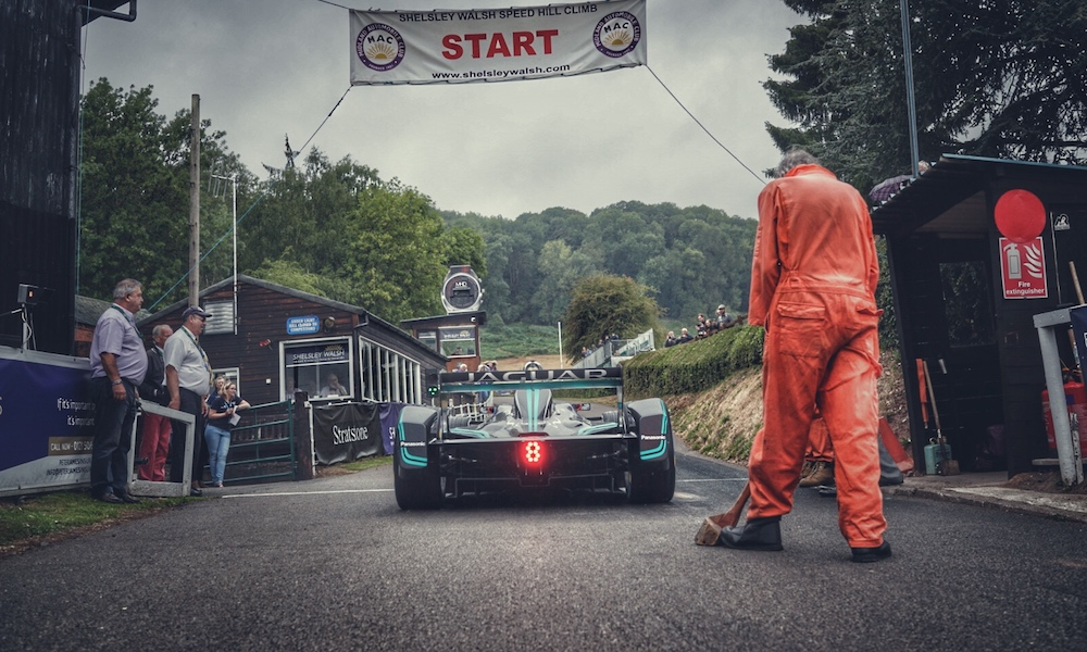 Jaguar Breaks Electric Hill Climb Record