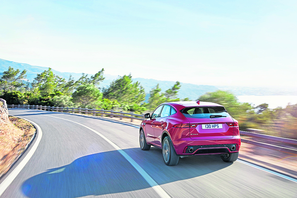 Compact Jag SUV sets the pace