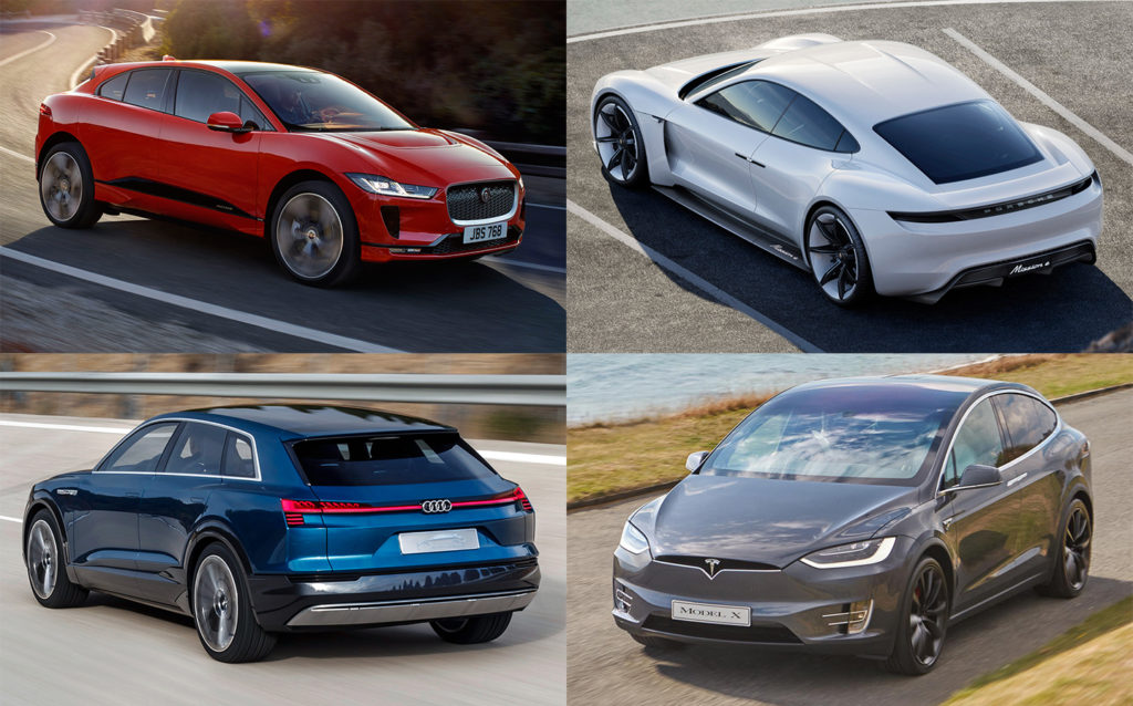 Which is the best electric car in 2018? Audi e-tron vs Jaguar I-PACE vs Porsche Taycan vs Tesla Model X