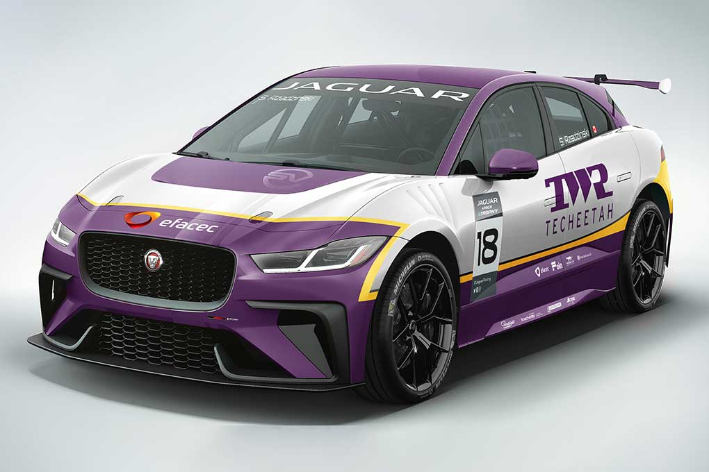 TWR Teecheetah to run retro inspired livery for Jaguar I-PACE eTROPHY