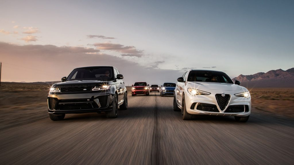 Comparison: Range Rover Sport SVR takes on Jeep, Alfa Romeo, Mercedes and Porsche