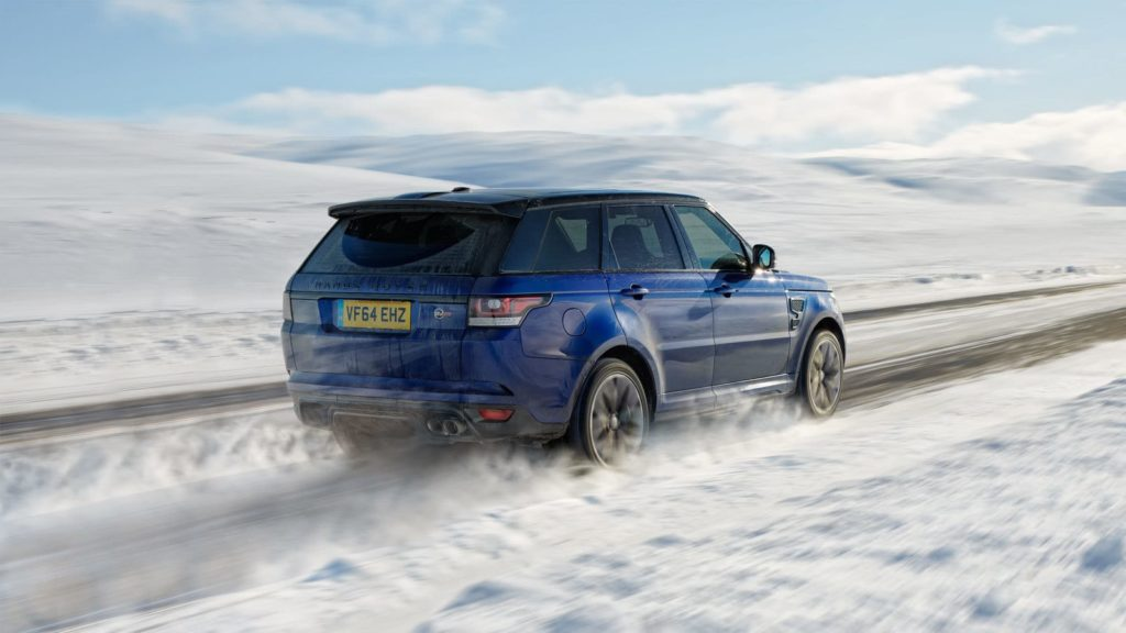 Watch rugged and luxury SUVs race up a snowy hill