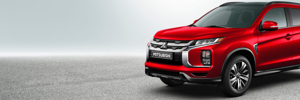 2020 Mitsubishi RVR crossover from its left side and front